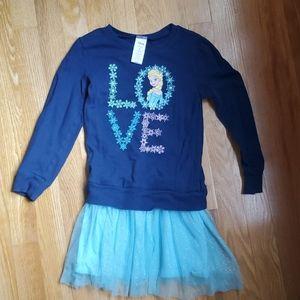 Elsa Frozen Long Sleeve Dress Size 5